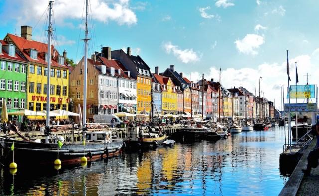 The Nyhavn Harbor in Copenhanen.