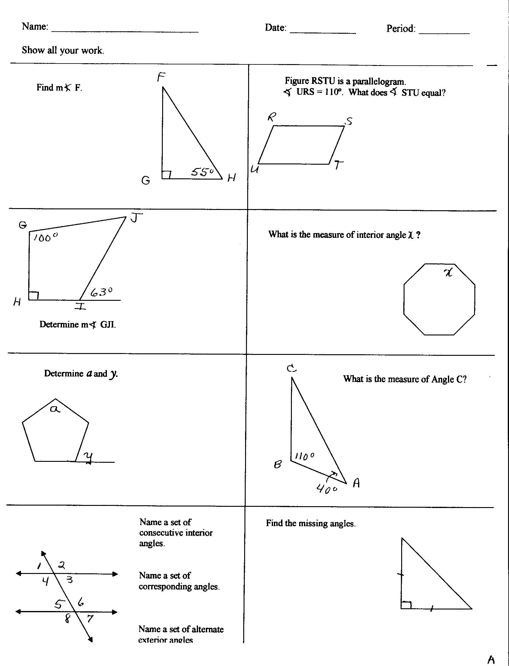 Math Homework For 6th Grade