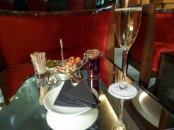 Some fizz to start in the bar