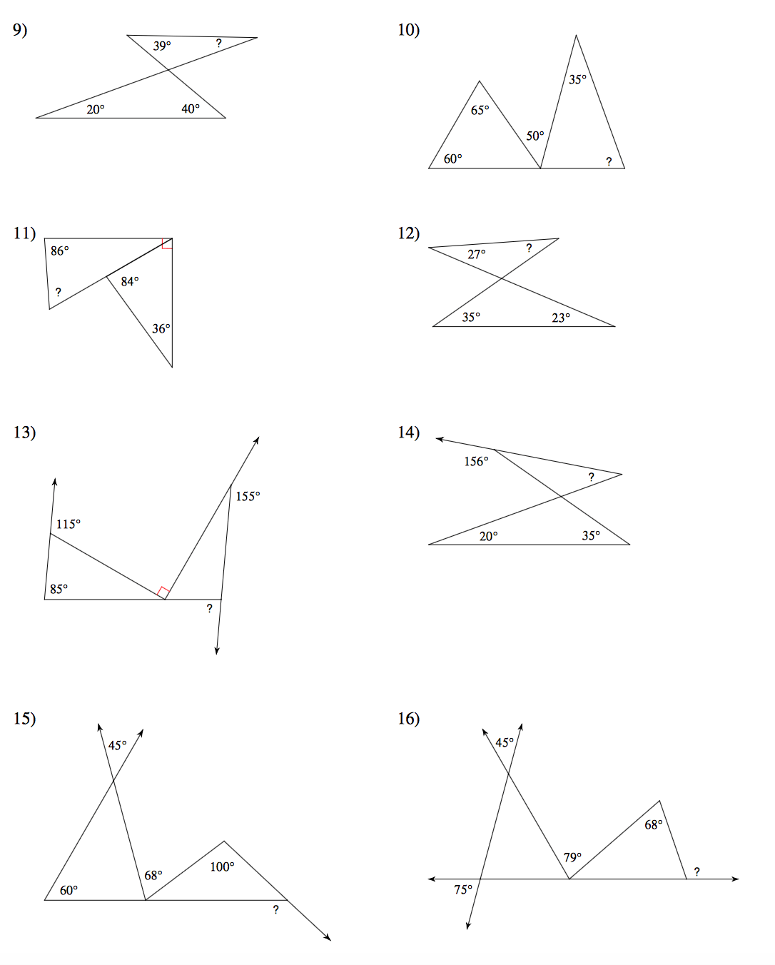 Occlusion Angles Classification Worksheet