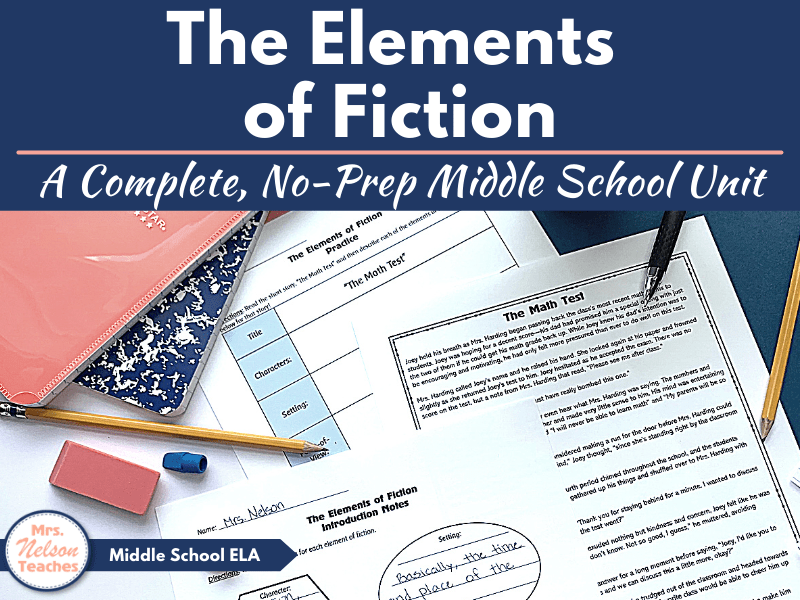 The Elements of Fiction Unit for Middle School Students