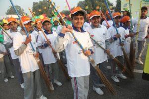 Students at the PHD Chamber Swachh Paryavaran Rally