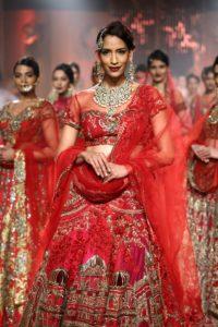 Model Krishna Somani at the India Fashion Show