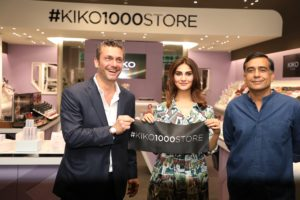 Stefano Percassi (Founder & CEO, KIKO MILANO), Celebrity Vaani Kapoor & Timmy Sarna (MD & CEO DLF Brands Ltd.)