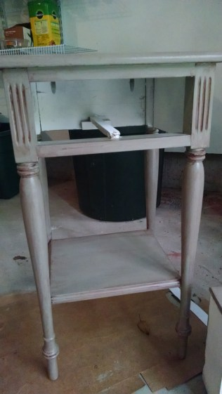 painted accent table glaze