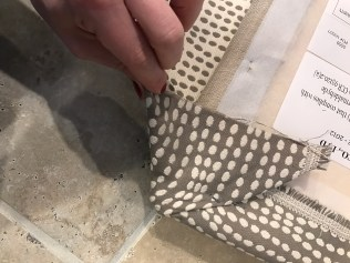 Step 2 - Pull the remaining fabric out