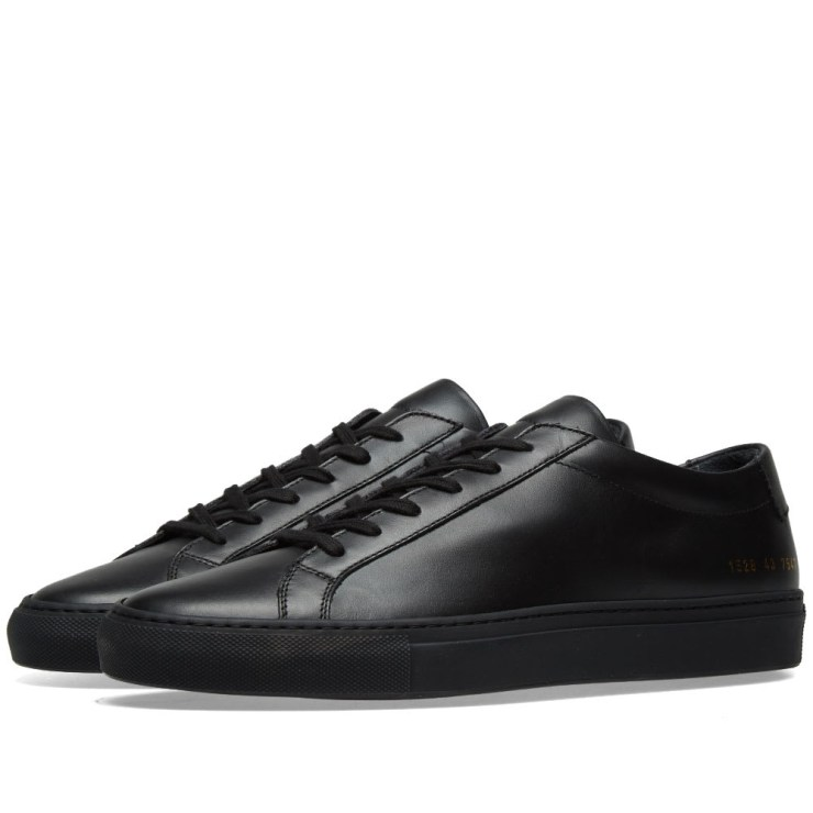 Common Projects Achilles Low Sneakers in Black