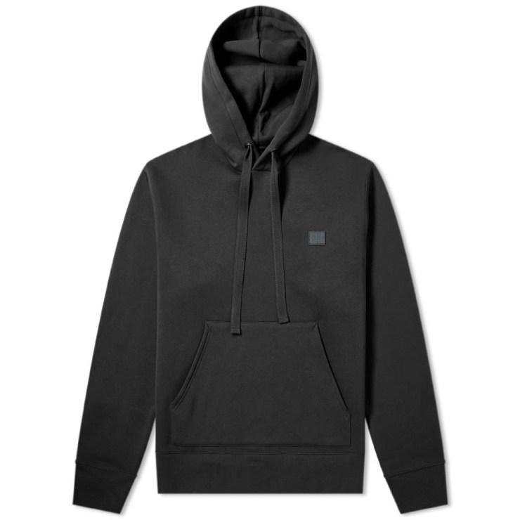 Acne Studios Ferris Face Hoodie in Black