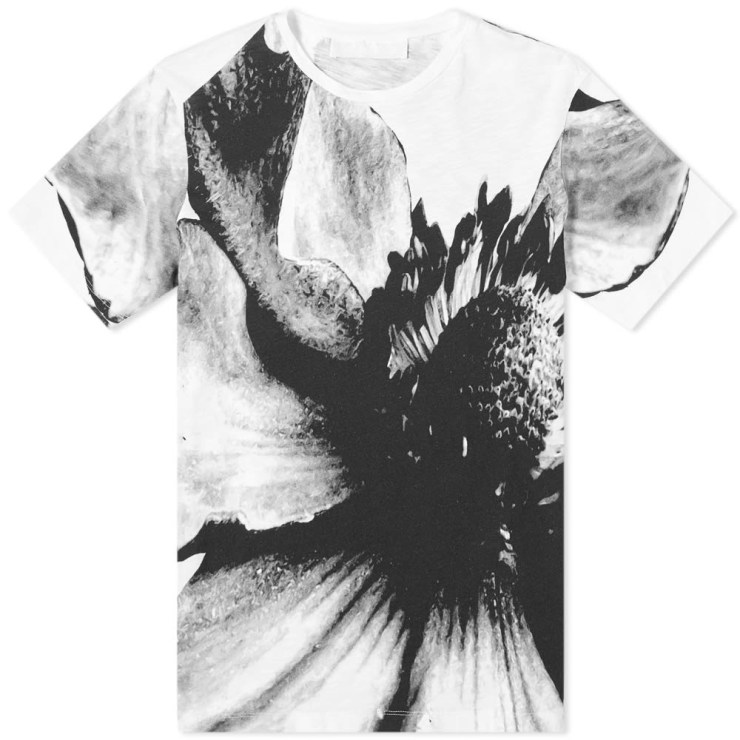 Neil Barrett Macro Floral T-Shirt in Black and White