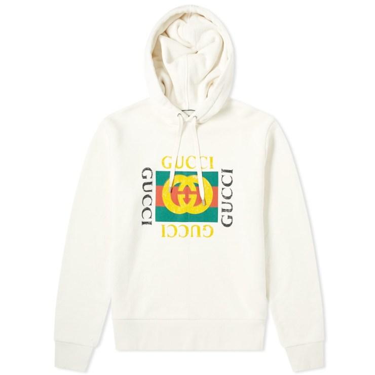 Gucci Vintage Fake Logo Hoody 'White'