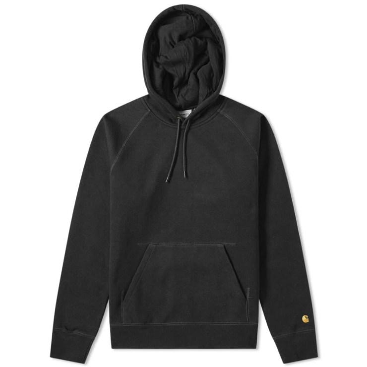 Carhartt WIP Hooded Chase Sweatshirt in Black