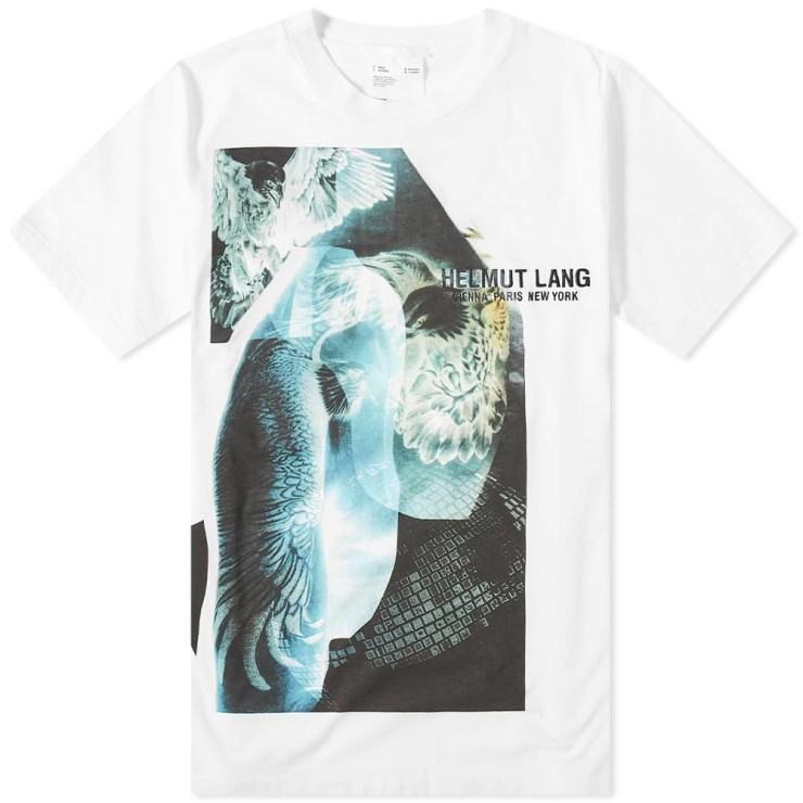 Helmut Lang Eagle Print T-Shirt 'White'