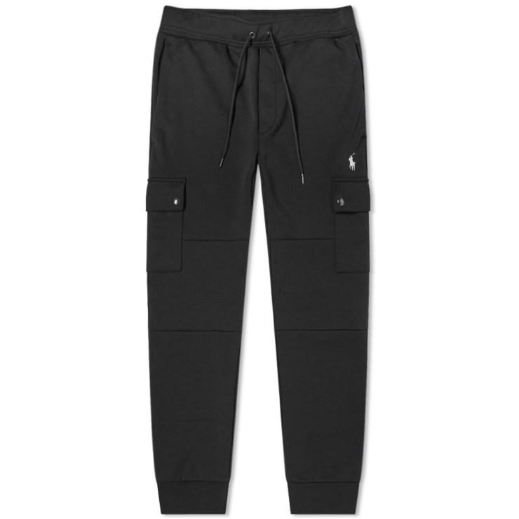 Polo Ralph Lauren Tech Fleece Cargo Pants in Black