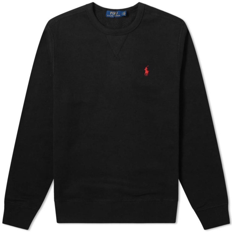 Polo Ralph Lauren Vintage Fleece Crewneck Sweatshirt 'Black'