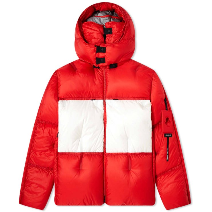 Moncler Genius x 5 Craig Green Coolidge Puffer Jacket 'Grey, White & Red'