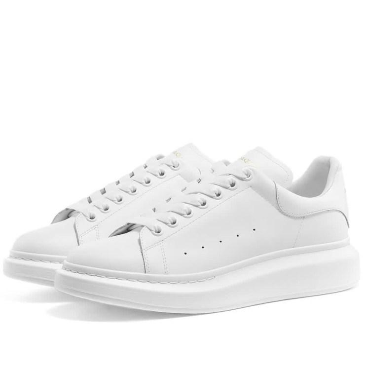 Alexander McQueen Wedge Sole Sneakers 'White'
