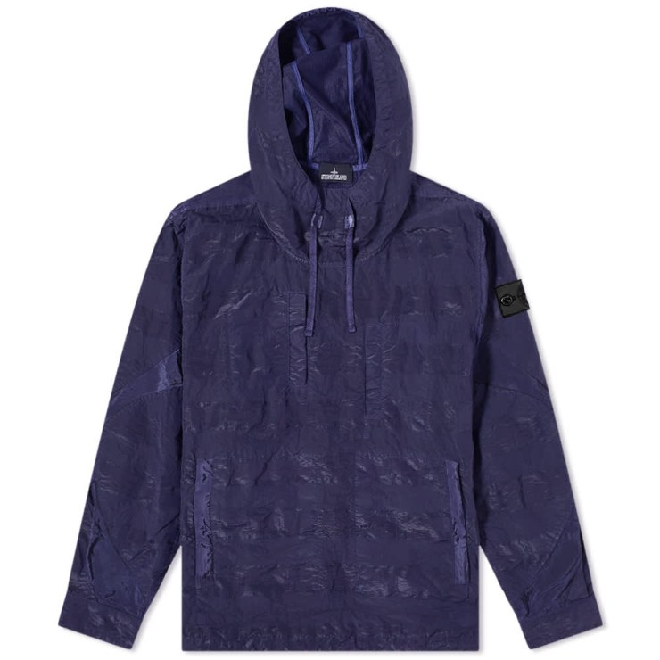 Stone Island Shadow Project Striped Nylon Metal Smock Jacket 'Navy Blue'