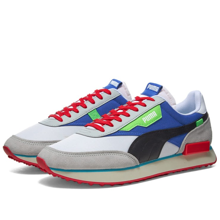 Puma Future Rider Ride On Trainers 'White & Dazzling Blue'