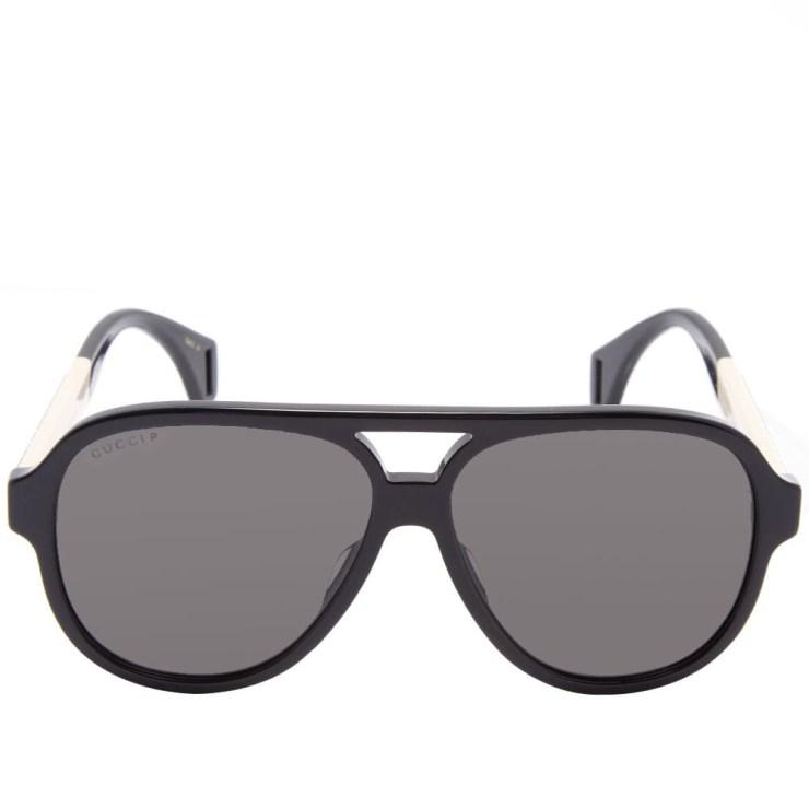 Gucci Sport Aviator Sunglasses 'Black'