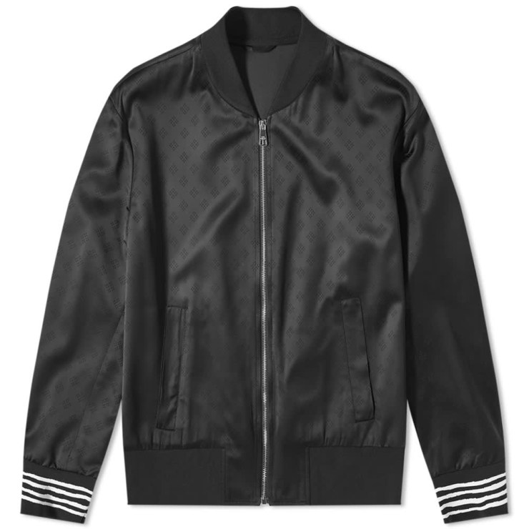 Neil Barrett Hand Drawn Stripe Bomber Jacket 'Black'