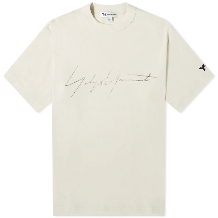Y-3 Distressed Signature T-Shirt 'Ecru'