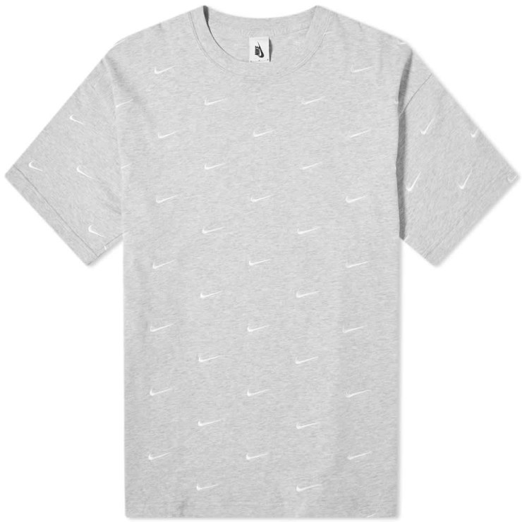 Nike NRG Embroidered Swoosh T-Shirt 'Grey'