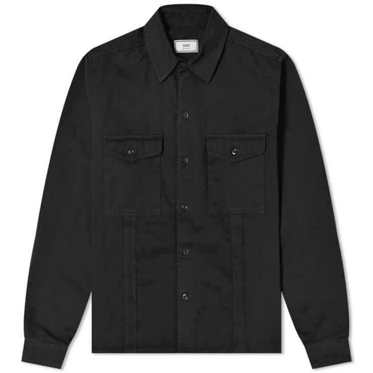 Ami 2 Pocket Overshirt 'Black'