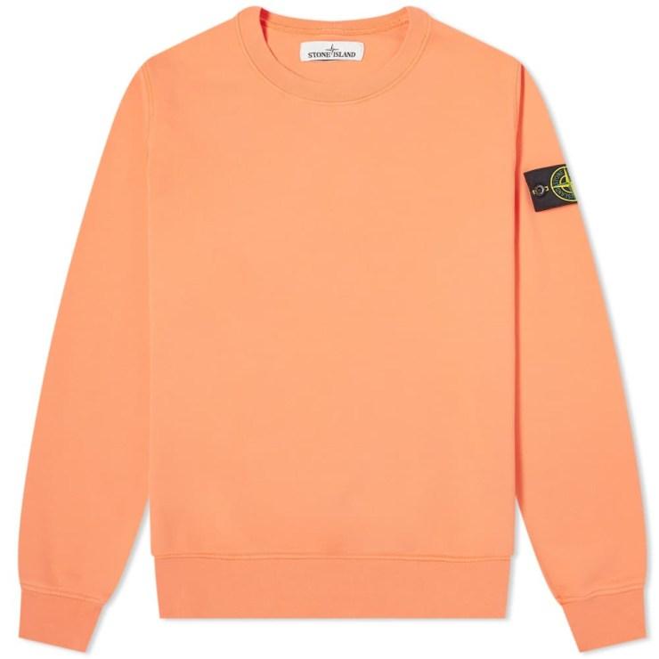 Stone Island Garment Dyed Sweatshirt 'Orange'