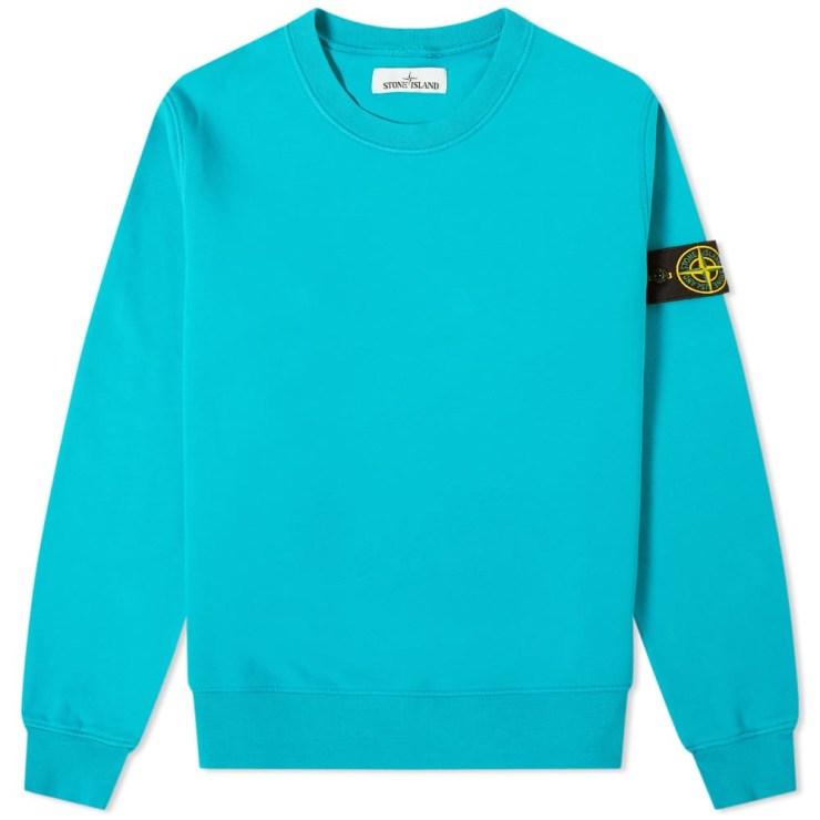Stone Island Garment Dyed Sweatshirt 'Turquoise'