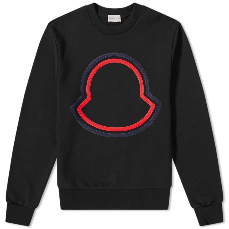 Moncler Outline Logo Sweatshirt 'Black'