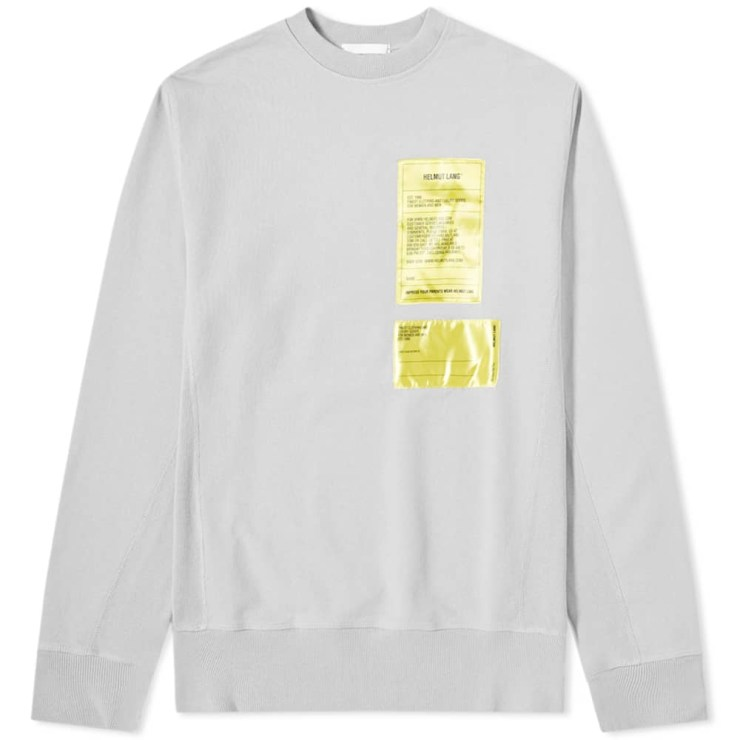 Helmut Lang Patch Logo Sweatshirt 'Grey'