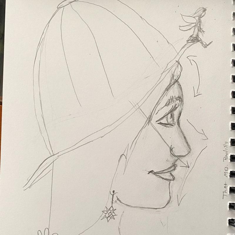 Mrs Padilly Illustration