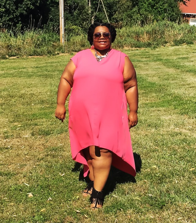 Pretty In Pink Plus Sized HiLo Rachel Roy Dresss