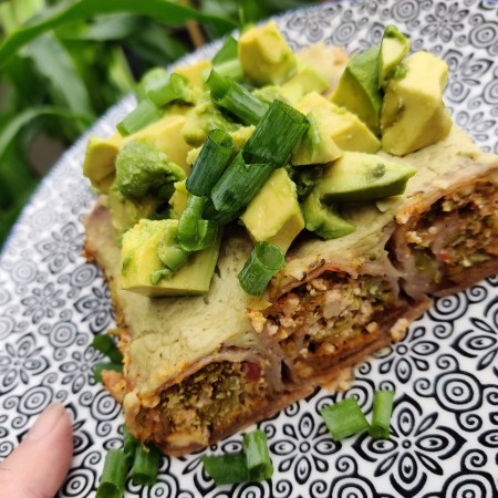 Broccoli Enchiladas With Creamy Salsa Verde Sauce