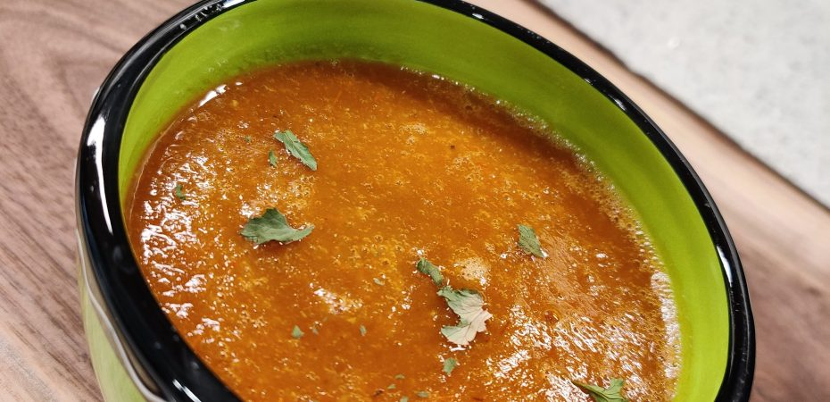 Mexican Roasted Tomato Pepper Soup