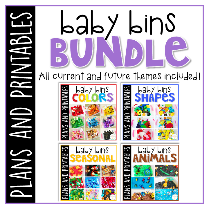 A full year of Baby Bin plans and printables, perfect for learning with little ones between 12-24 months old. Weekly plans include a book and 5 activities to try out (a mixture of sensory bins, crafts, fine motor and gross motor activities)!