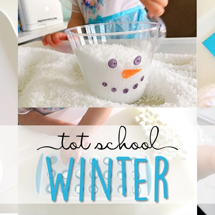 Tons of winter themed activities and ideas. Weekly plan includes books, literacy, math, science, art, sensory bins, and more! Perfect for tot school, preschool, or kindergarten.