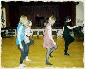 Jan teaches some dance steps