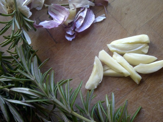 Image of rosemary and sliced garlic