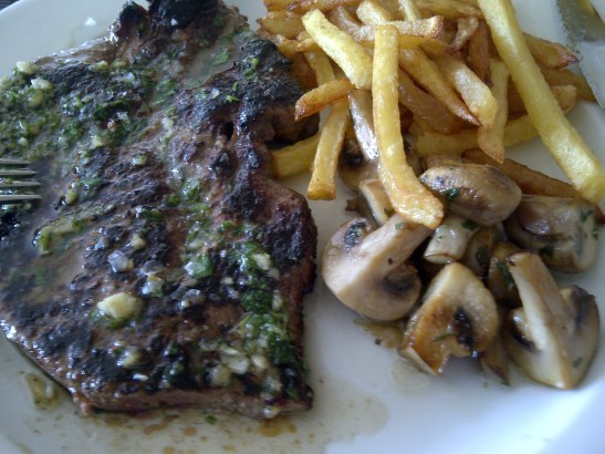 Image of calves liver cooked with garlic and parsley