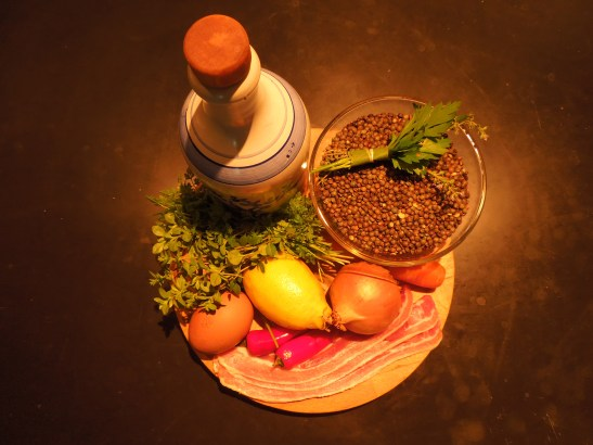 Image of ingredients for Puy lentil dish