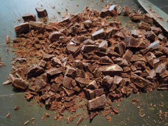 Image of chopped chocolate