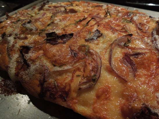 Image of cooked focaccia