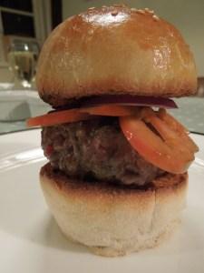 Image of burger in a bun