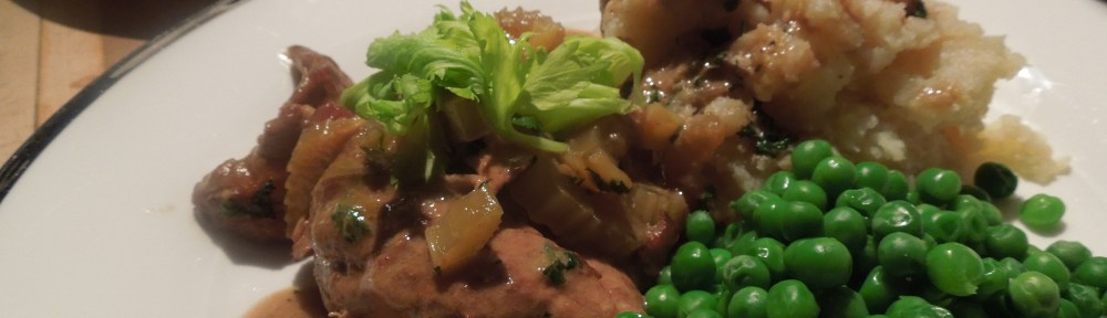 Image of plates of pheasant with cream and celery