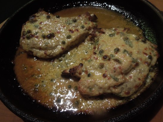 Image of chops with after going under the grill