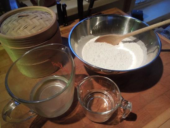 Image of pancake ingredients