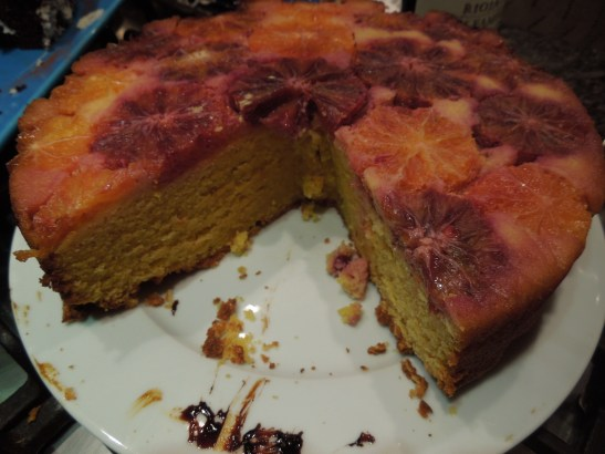 Image of cake with a big slice taken out