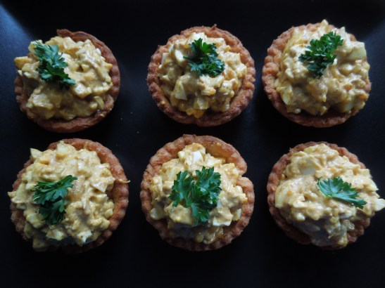 Image of six canapes on a plate