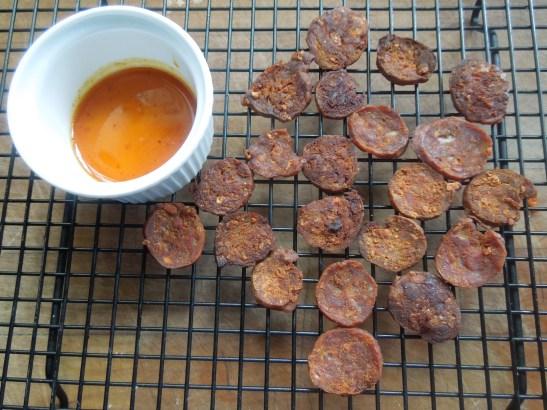Image of chorizo oil and chorizo crisps